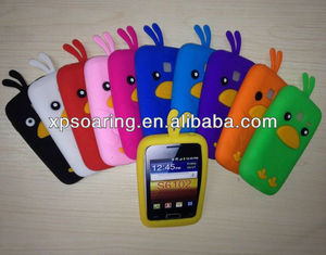 chicken silicone case back cover for Samung Galaxy Y duos S6102
