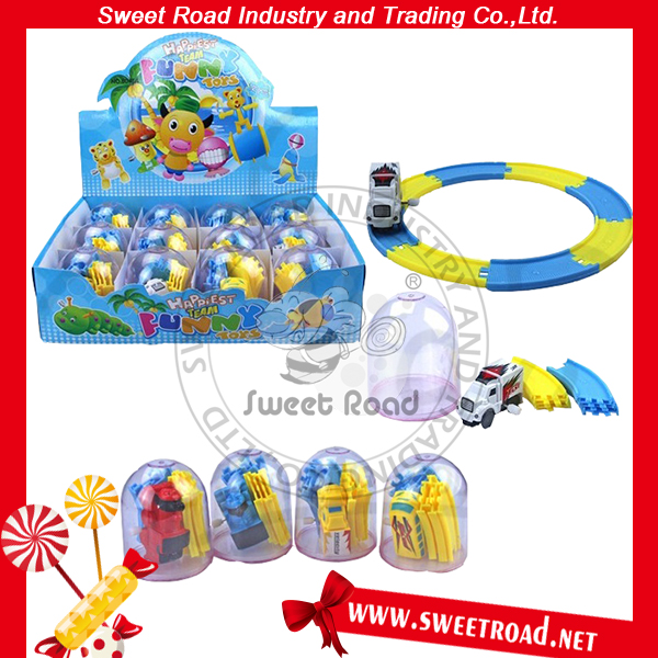 Sweets Candy with Track Car Toy Confectionery