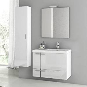 Get Quotations · Nameeks ANS83 ACF 31-3/10  Wall Mounted Vanity Set with Wood Cabinet & Cheap In Wall Vanity Cabinet find In Wall Vanity Cabinet deals on ...