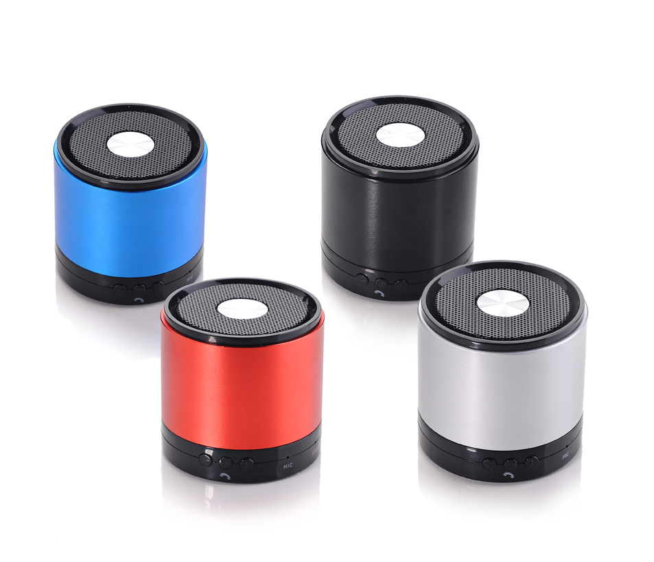 Aluminum Oem Portable And Low Price Wireless Speakers With Cable And Led Light, Sd&Tf Card, Fm Function
