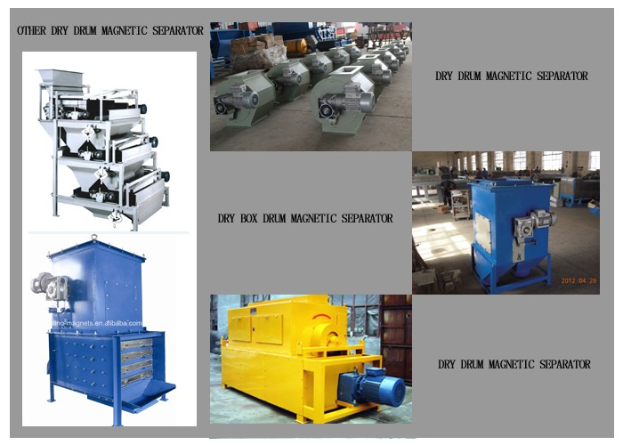large attractive force magnetic drums and drum separator for efficient iron continuously remove