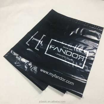 custom printed black poly mailer bags