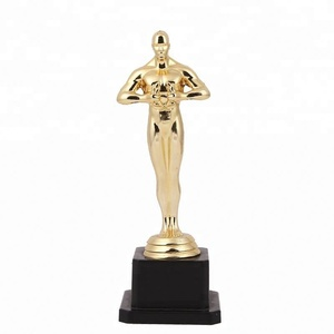 Factory supply excellent quality art collectible use gold plated oscar awards plastic trophy