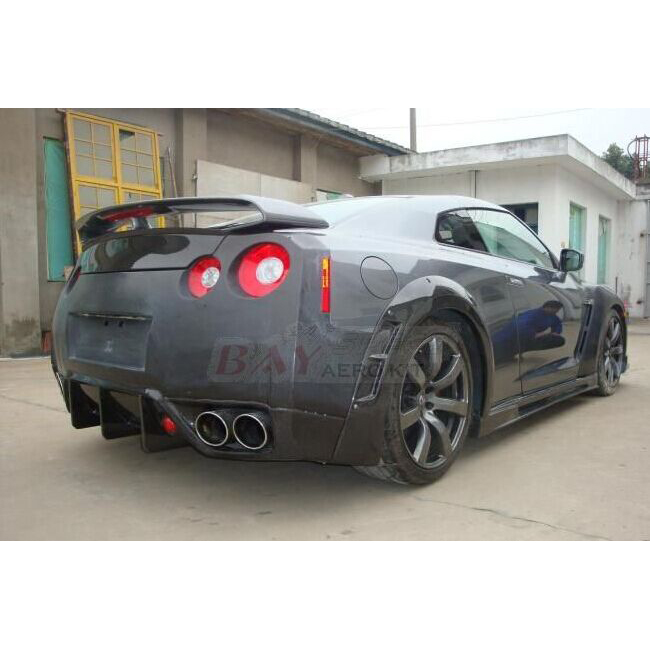 2009-2015 Gtr-R35 Bse Style Carbon Fiber Rear Wheel Flare