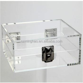 Clear Lockable Storage Box / Acrylic Lockabke Storage Box
