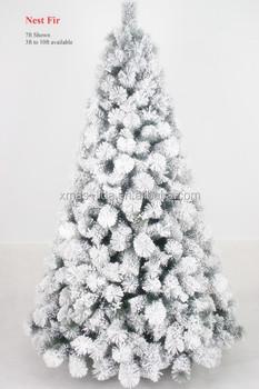 nest fir pine needle self snowing christmas tree