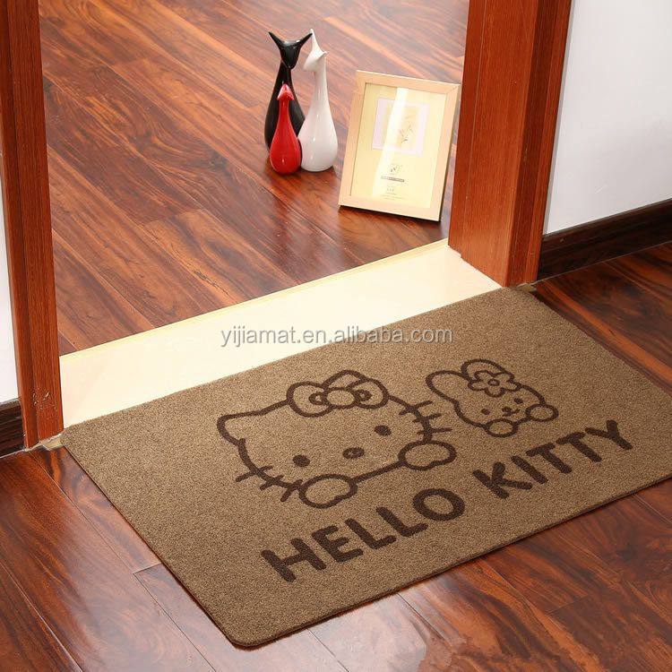 Sweet home anti-slip da tela decorativa impresso capacho com TPR backing