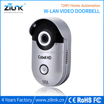 Wifi smart door phone, home security system 720p wireless doorbell