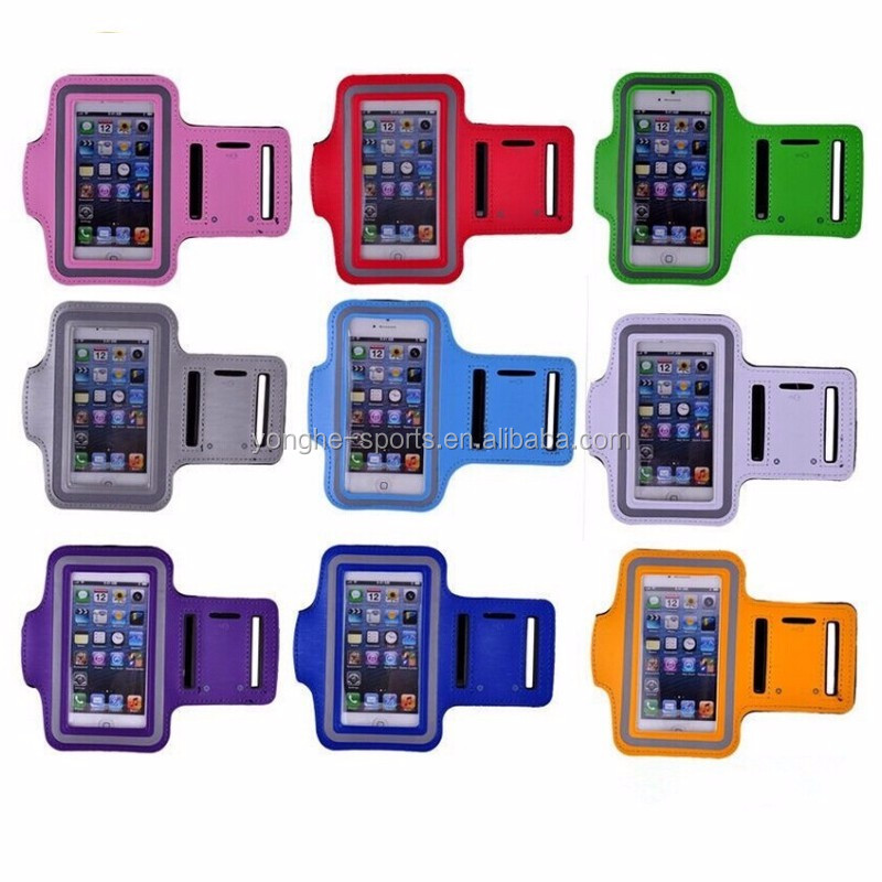 customsed 100% waterproof neoprene 5.5inch cell phone armband cases
