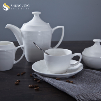 Bulk Tea Cups And Saucers Cheap Plain White Teapot Chinese Tea Set