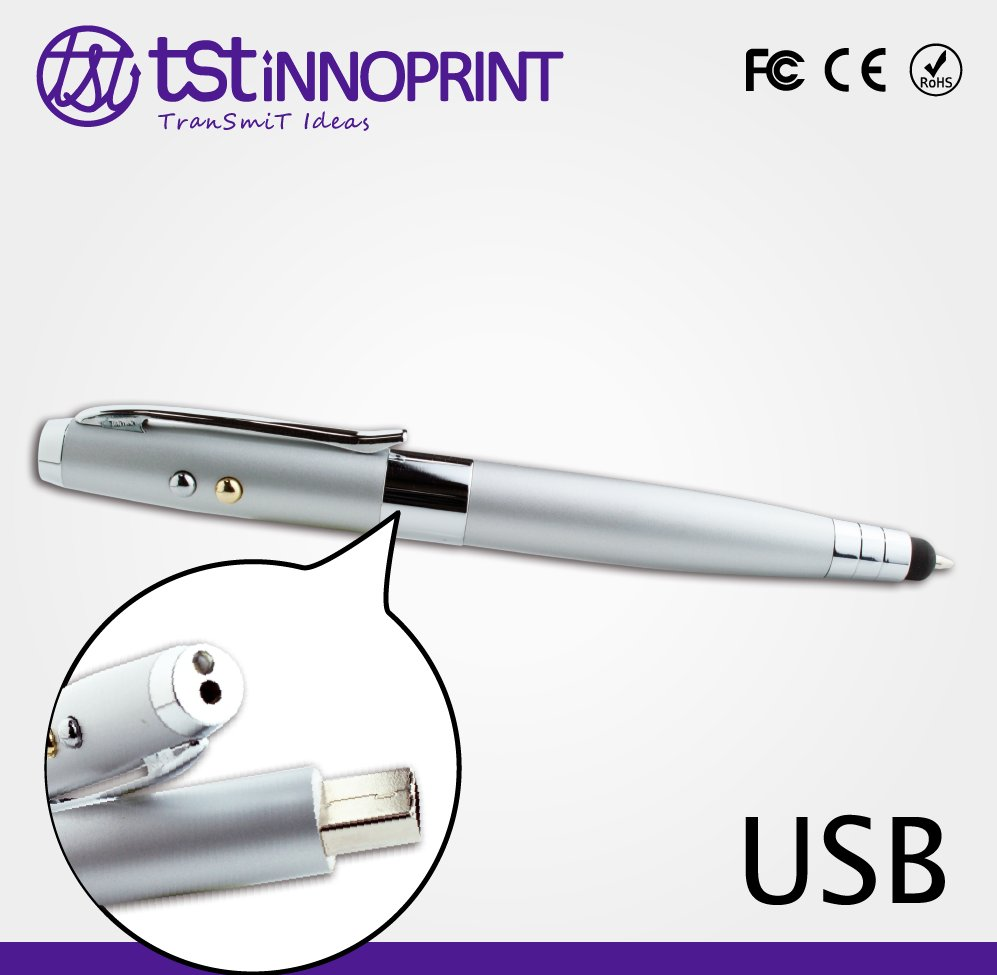 5 in 1 Business Profession Stylish Custom Metal Pen USB Drive with Laser Pointer