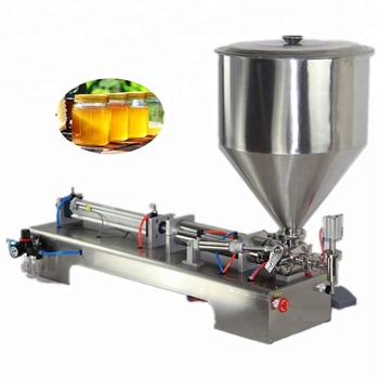 Joygoal - pneumatic one-head paste filling machine with table (filling machine for hummus, mayonnaise, sauce, balm )
