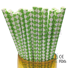 Cyang Premium Quality Biodegradable Green Diamond Eco Paper Straws Recycled 25ct 197mm