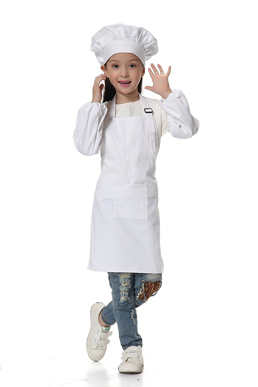 Buy Osbel Deluxe Childs Chef Hat Apron Set Childrens Kitchen Cooking