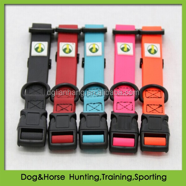 softer day glo collar material PVC with quick release safety buckle wholesale