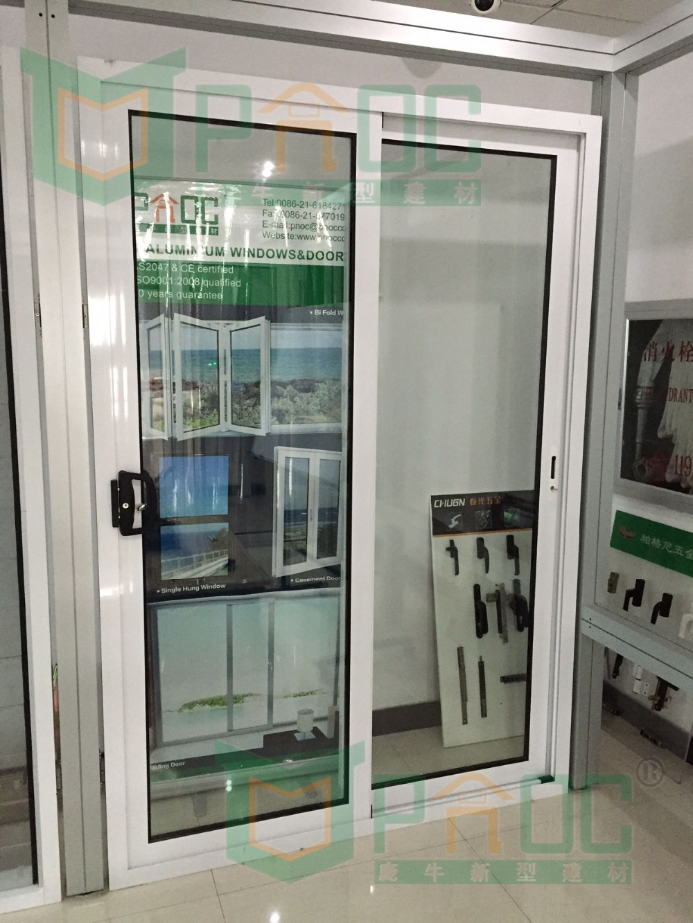 Interior or exterior aluminum tempered glass sliding door for Glass sliding entrance doors