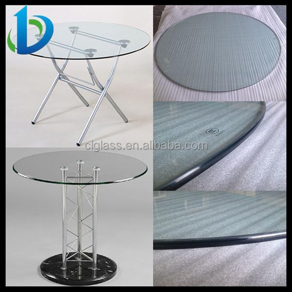 High Quality Custom Made Glass Table Top