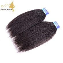 Fashional Product Yaki Straight human virgin hair extension brazilian hair alibaba