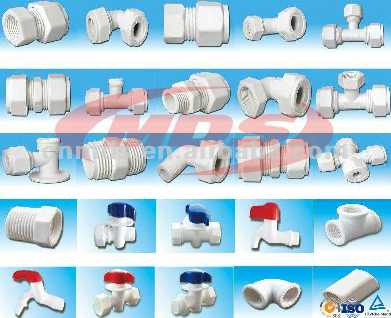Plastic Pvc Pipe Fittings Cross Tee For Connecting Water