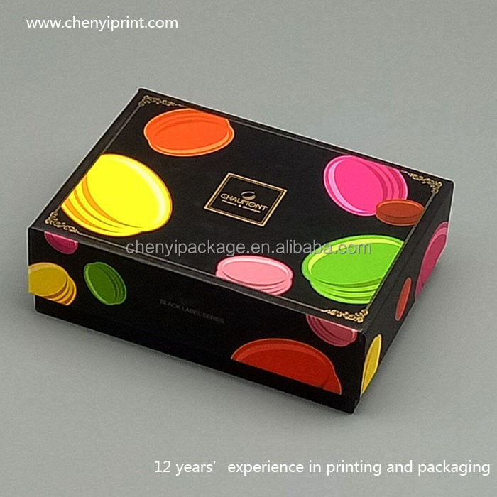 Mysterious design handmade paperboard lid and tray colorful cosmetics gift box