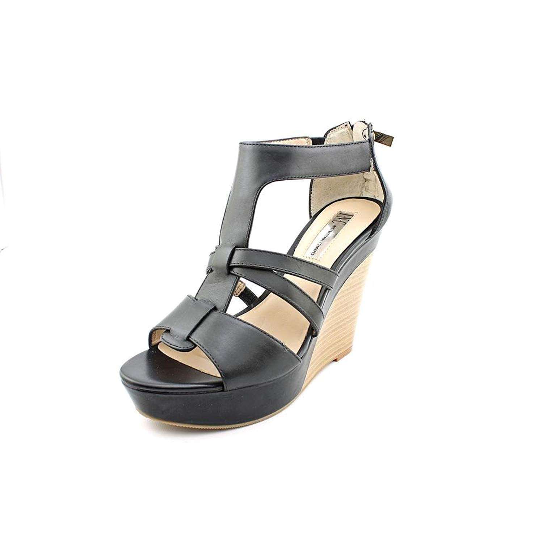 INC International Concepts Women Cressida Wedge Sandals, Black, Size 9.5