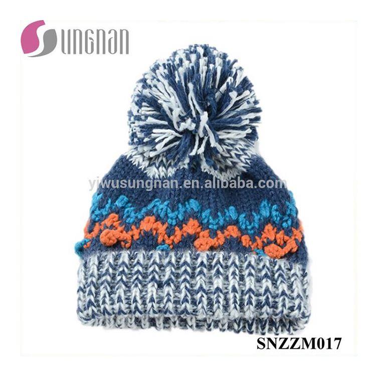 e96fb95b28494 Mejor Diseño caliente lana Multicolor tapa ondulado patrones de punto  sombrero