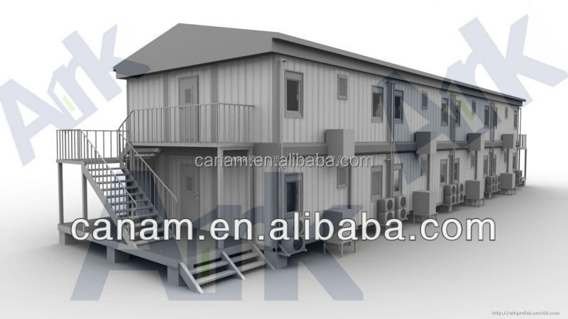 CANAM-luxury prefabricated container log wood house villa design