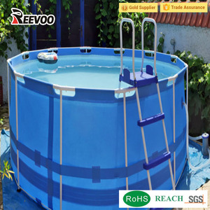 Super quality collapsible canvas swimming pools above ground