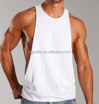b61db207a94182 Top Quality Blank Low Cut Plain White Tank Top For Men - Buy Plain ...