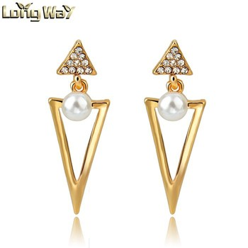 Earrings Gold Designs Jewelry Indian Pearl