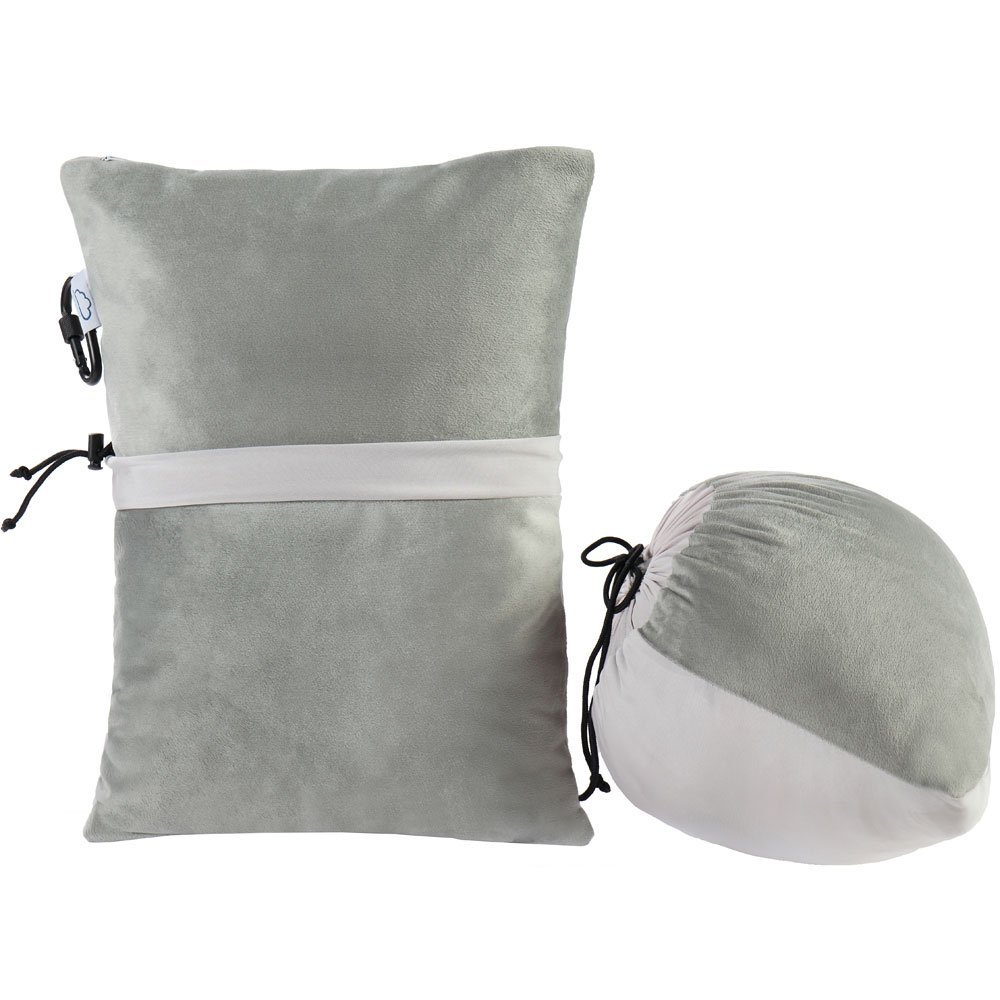 Modvel Compact Travel Outdoor Pillow - Compressible Shredded Memory Foam for Comfort and Neck Support - Great for Adults, Kids, Camping, Air Travel, Road Trips, and More! Take Anywhere! (Large)