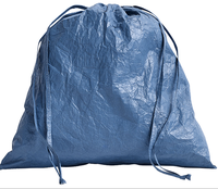 Recycle tyvek paper drawstring pouch bag