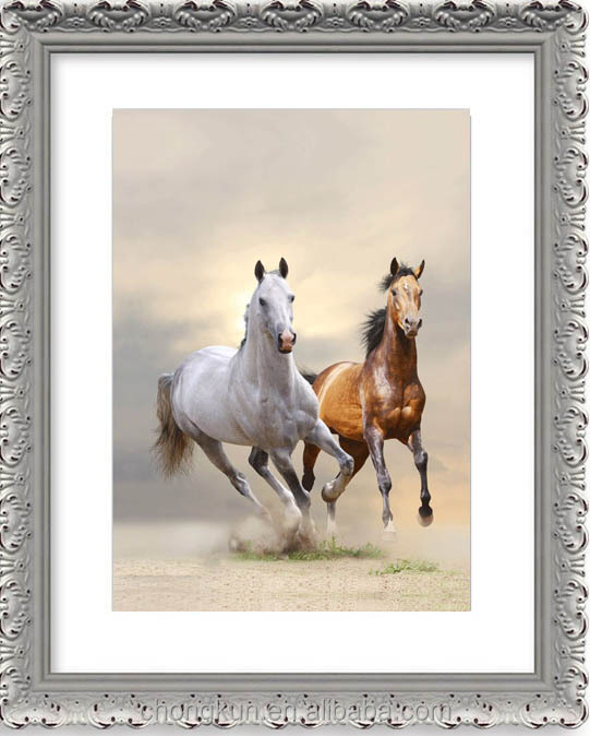 High definition eye-catching 3D 60*80cm LED horse picture light box