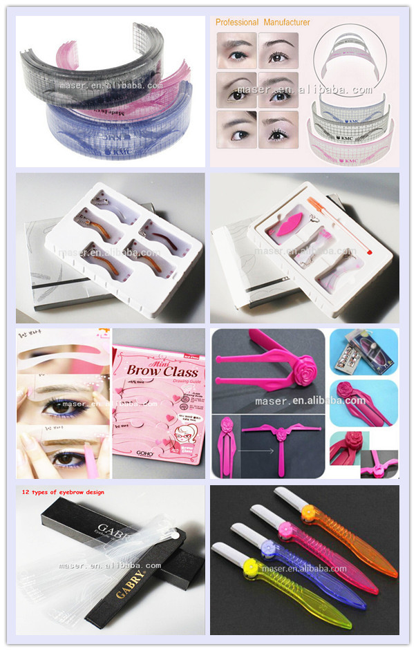 Flexible Plastic Shape Stencils Set,Drawing Pattern Eyebrow ...