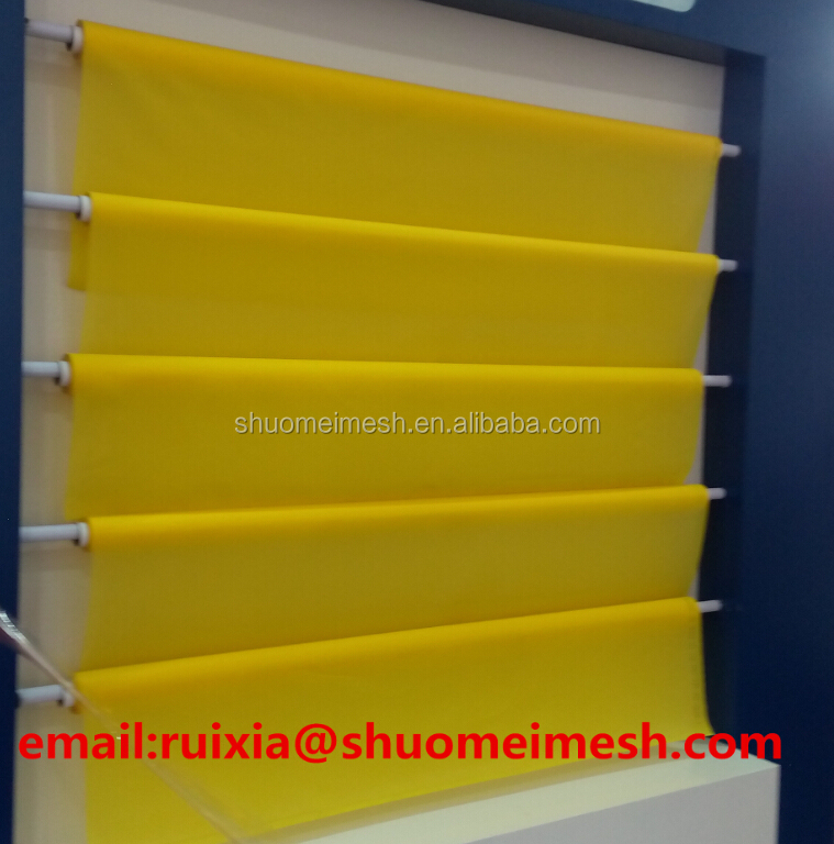 Smooth Surface Plain Woven Monofilament Polyester Screen Printing Mesh