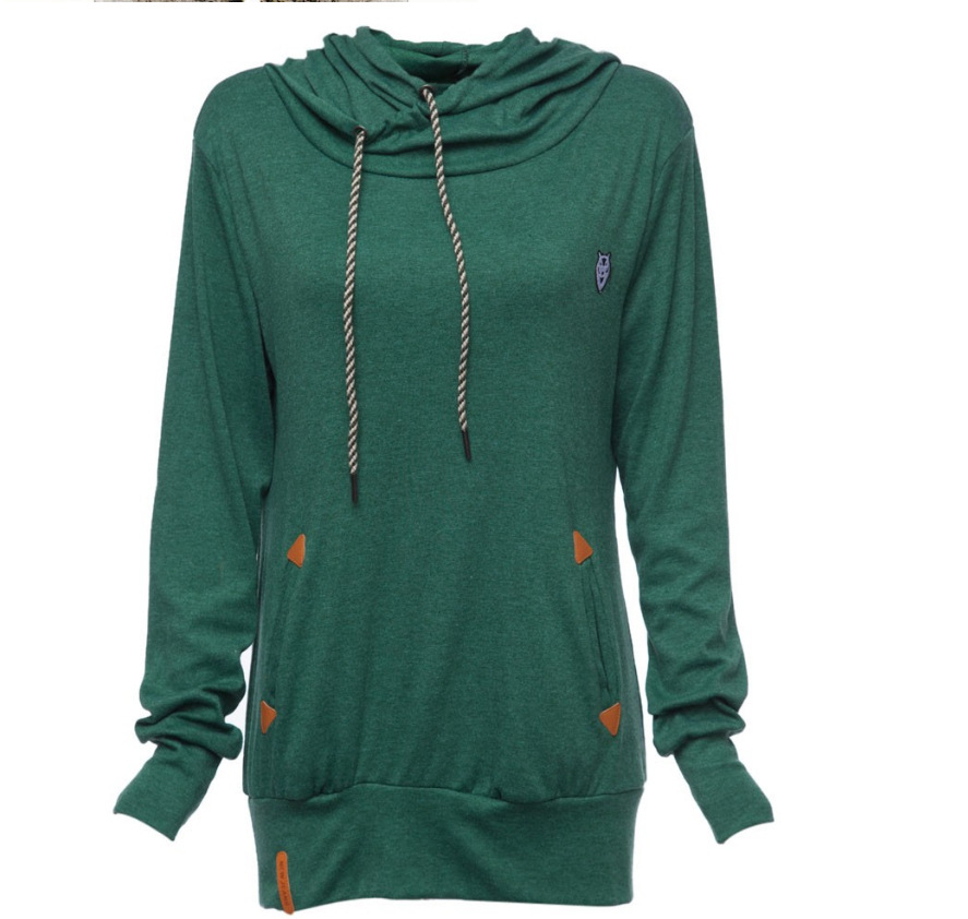 Factory OEM garment pullover sweatshirt for women cotton hoodie