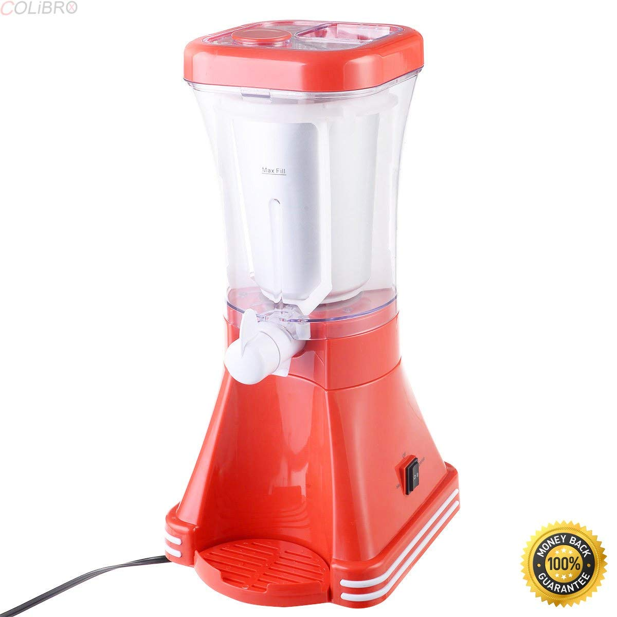 COLIBROX--New Slush Drink Maker Retro Machine Blender Ice Slushie Margarita Slurpee Frozen,drink maker machine,cocktail maker machine,alcohol drink maker machine,cocktail machine for sale