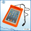 Pvc promotion waterproof bag for ipad mini with lanyard