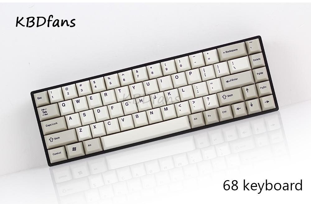 Tada68 Mechanical keyboard gateron swtich 65% layout Dye-sub keycaps cherry  profils enjoypbt keycap cherry profile zealio switch