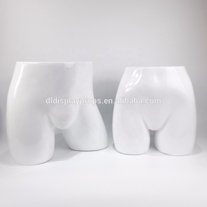 DL587 Glossy white shenzhen model big big Hip mannequin for men pants for underwear lower-body ghost manikin sexy display tools