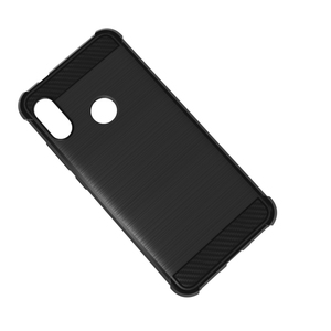 bushed tpu case for xiaomi redmi 6 pro carbon fiber tpu phone protective cover for xiaomi redmi 6 pro