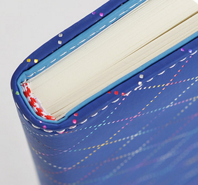 Popular blue thick durable locking diary notebook
