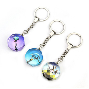 Beautiful America Movie 3D Glass Crystal Keychain Custom With LED Light inside Etched Engraved You Own Photo Key Chain
