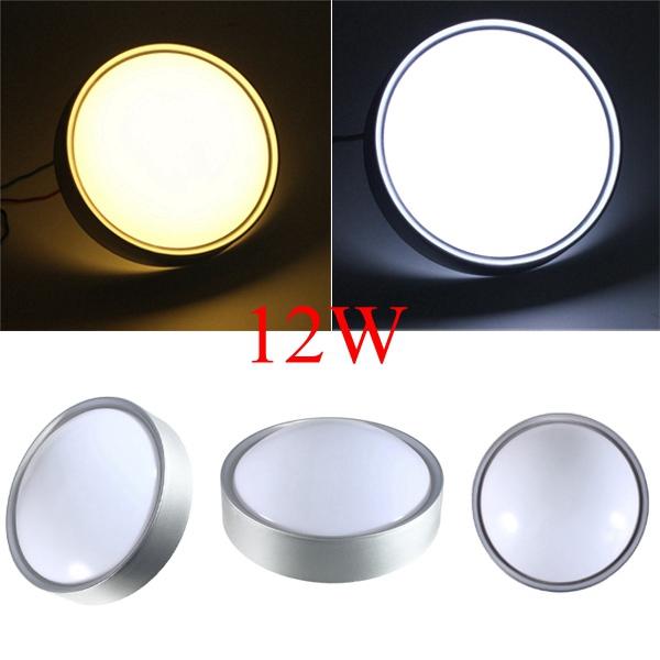 Ceiling Lighting Led Ceiling Lights Kitchen 110 220v Flush: Modern 12W 220V 1200LM Pure White/Warm White Round 24pcs