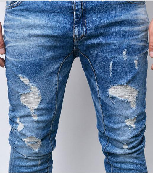 2016 New Design Destoryed Denim Jeans Pants For Man Crushed Jeans ...