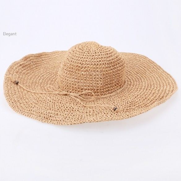 Get Quotations · Free Shipping Big Wide Brim Beach Sun Hat Weave Straw Hat  Casual Fashion Style Summer Hats 20bbcda0c870