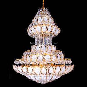 Large Cheap Antique Indian Chandeliers Hanging Glass Lamp for Mosque 63023