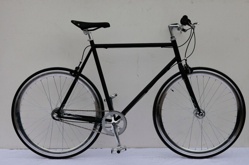 Foot Brake Fixed Gear Bike New Style Fixie Bike Chrome Wheel Fixed