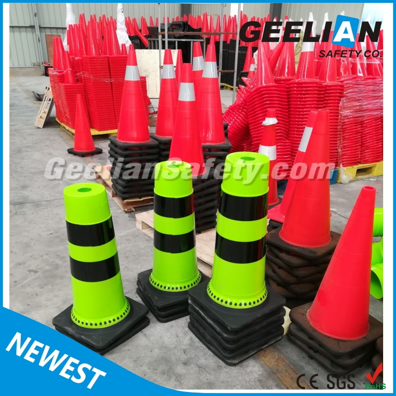 Flexible Soft Light Rubber Traffic Safety Signal Parking Cone