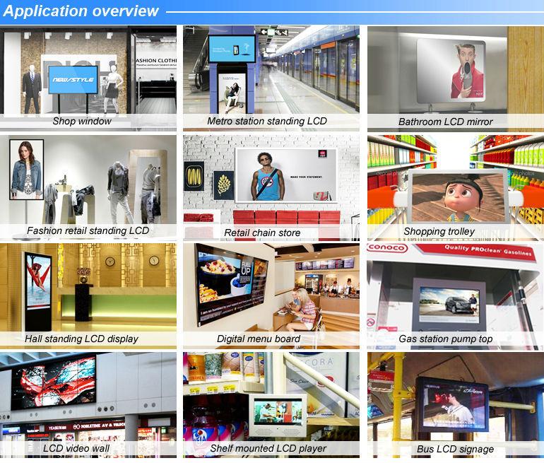 Network 19''wall Mounted Ultra Thin Lcd Digital Ads Circular ...